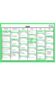 7.Sans Kontorkalender. Enkel A4 2020