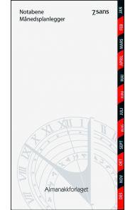 7.Sans Notabene Månedsplanlegger Hvit