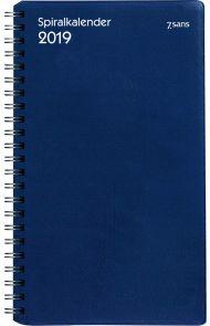 7.Sans Spiralkalender Spiralisert Blå