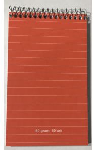 Notisblokk  8X13cm 50Bl 60G Linj Spiral