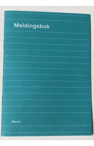 Meldingsbok A6 16 Bl  32S. Blå
