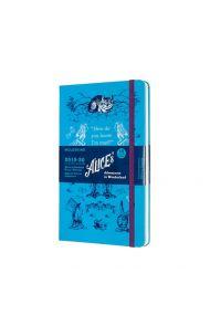 Moleskine 18M(19/20)Uke L Alice Wonderland Blå