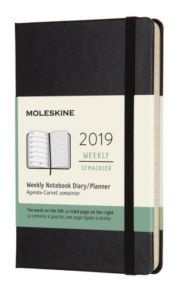 MOLESKINE 12M(2019) UKE  PKT SORT HARD