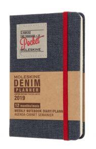 MOLESKINE 12M(2019) DENIM UKE PKT SORT