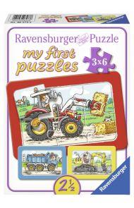 Puslespill Ravensburger 3X6 Store Kjøretøy Mitt Fø