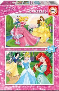 Puslespill Educa 2X20 Disney Princess