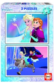 Puslespill Educa 2X20 Frozen