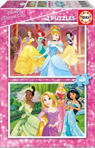 Puslespill Educa 2X48 Disney Princess