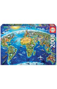 Puslespill Educa 2000 World Landmarks Globe