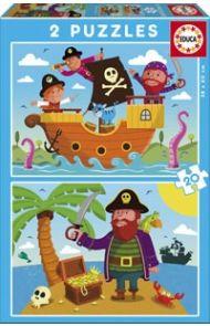 Puslespill Educa 2X20 Pirates
