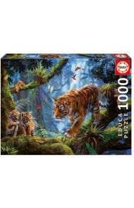 Puslespill 1000 Tigers In The Tree Educa
