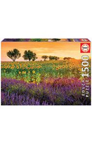 Puslespill 1500 Sunflowers And Lavender Educa