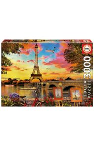 Puslespill Educa 3000 Sunset In Paris