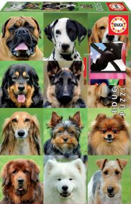 Puslespill Educa 500 Dogs Collage