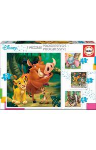 Puslespill Educa 4 X Disney Puzzles