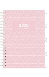 Ukeplanlegger Grieg Leo A5 Trend 2020 rosa