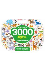 3000 dyreklistremerker. Aktivitetspad. Stappfull av oppgaver, spill og aktiviteter