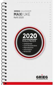 Lommekalender Grieg Maxi spiral refill 2020