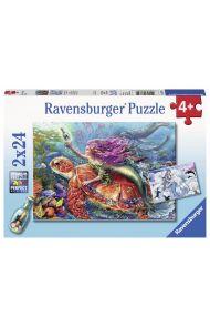 Puslespill Ravensburger 2X24 Havfruer