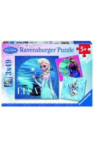 Puslespill Ravensburger 3X49 Frost