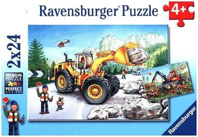 Puslespill 2X24 Gravemaskiner Ravensburger