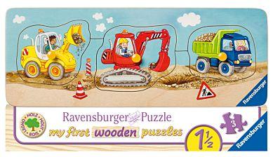 Puslespill 3-5 Anleggsmaskiner Ravensburger