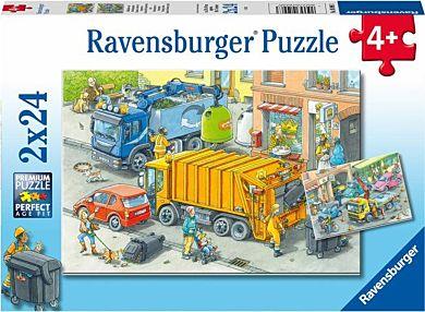 Puslespill 2X24 Ut Å Jobbe Ravensburger