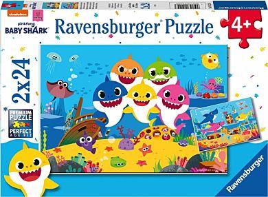 Puslespill 2X24 Baby Hai Og Hans Familie Ravensbur