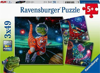 Puslespill 3X49 Dinosaurer I Verdensrommet Ravensb