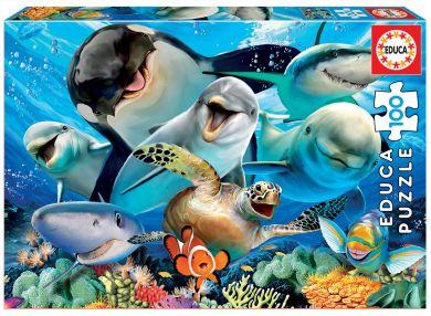 Puslespill 100 Underwater Selfie Educa