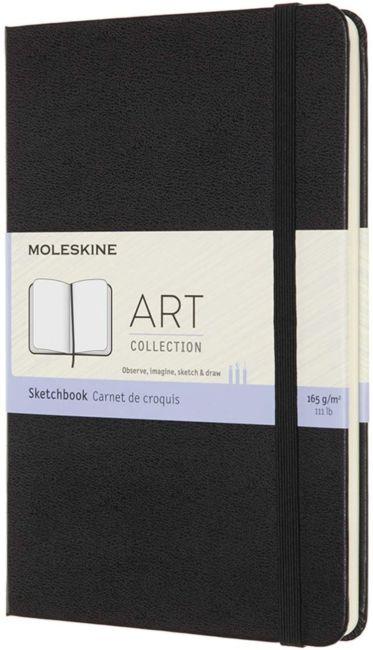 Skissebok Moleskine Art Hard M - Blank Black