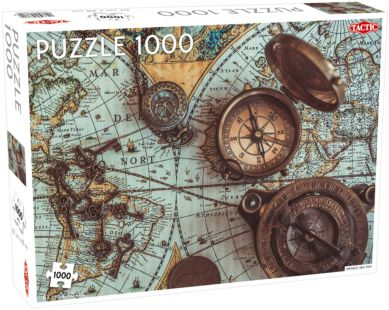 Puslespill 1000 Vintage Sea Map  Tactic