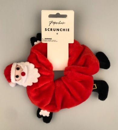Hårstrikk Santa Scrunchie
