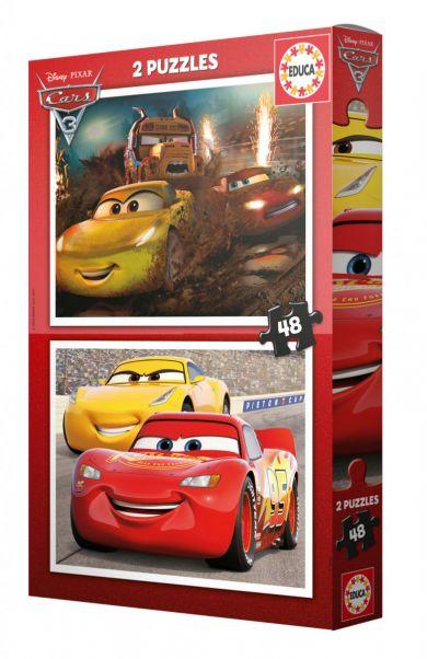 Puslespill 2x48 Cars 3 Educa