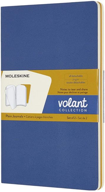Notatbok Moleskine Volant Soft 2pk L - Blank FBlue