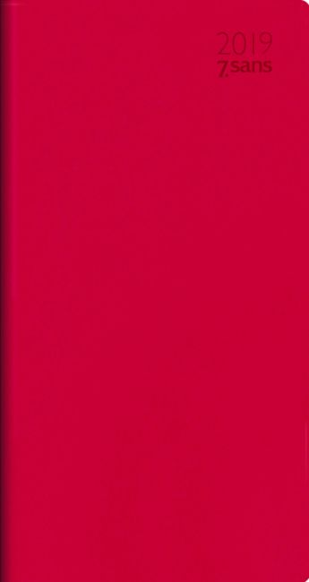 7.Sans Datum Imitert Skinn Rød