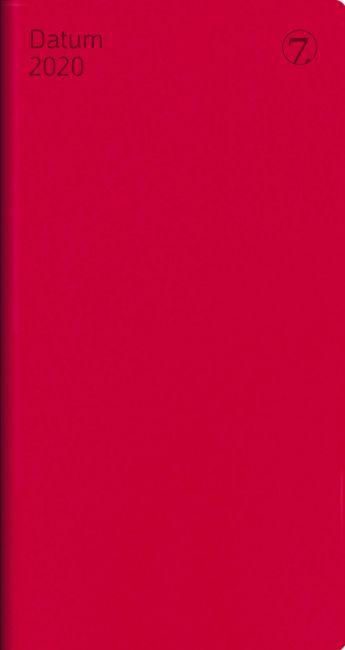 7.Sans Datum Imitert Skinn Rød 2020