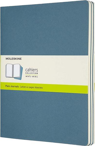Notatbok Moleskine Cahier 3pk XL - Blank Brisk Blu