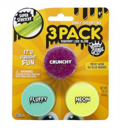Compund Kings Fluffy Bobble Bits Slime 3 Pack