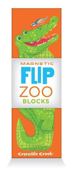 Puslespill Magnetic Flip Zoo Crocodile Creek