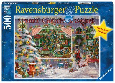 Puslespill 500 Julebutikken Ravensburger
