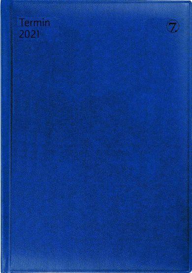 Avtalebok 2021 7.sans Termin Uke A5 Blå