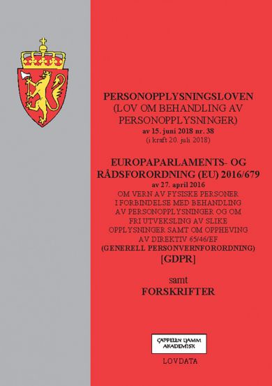 Personopplysningsloven ; Europaparlaments- og rådsordning (EU) 2016/679 : om vern av fysiske persone