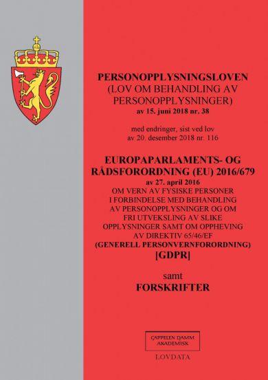 Personopplysningsloven ; Europaparlaments- og rådsordning (EU) 2016/679 av 27. april 2016 : om vern
