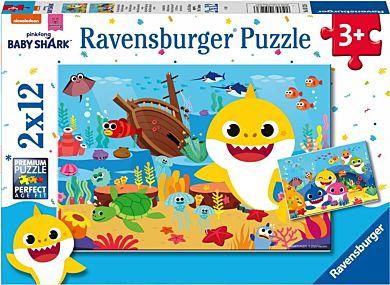 Puslespill 2X12 Baby Hai Ravensburger