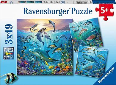 Puslespill 3X49 Under Havet Ravensburger