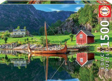 Puslespill 1500 Viking Ship Educa