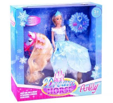 Anlily Prinsessedukke & Hest