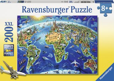 Puslespill 200 Verden Ravensburger