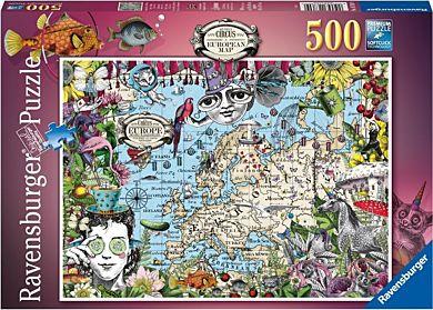 Puslespill 500 Quirky Sirkus Europakart Ravensburg